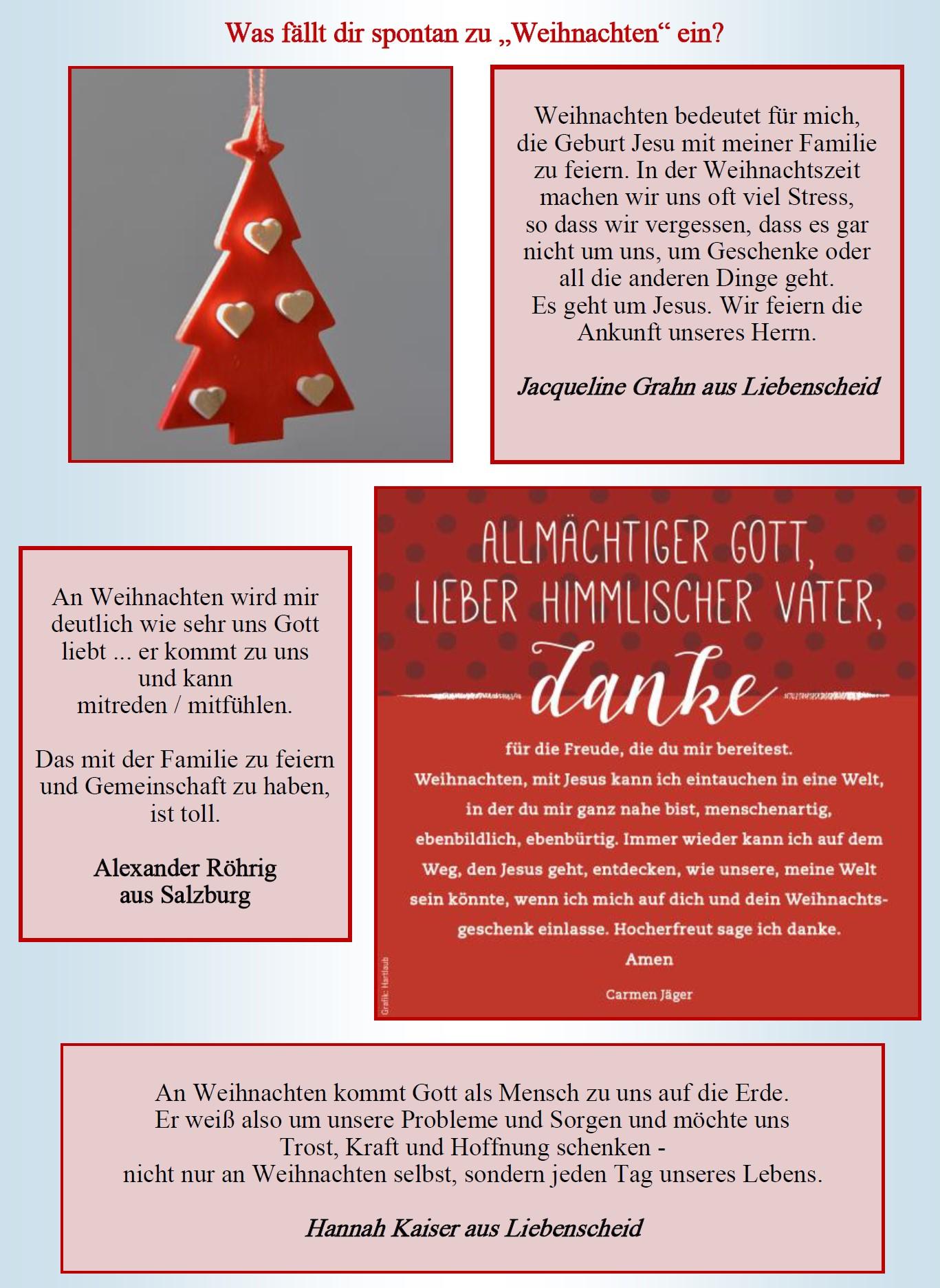 Gedanken Zu Weihnachten Evangelisch Im Hohen Westerwald